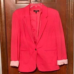 Women's Hot Pink Blazer with Rolled Cuffs